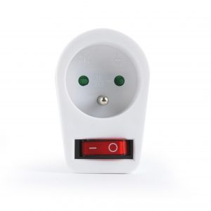 Switchable plug-in French AC socket